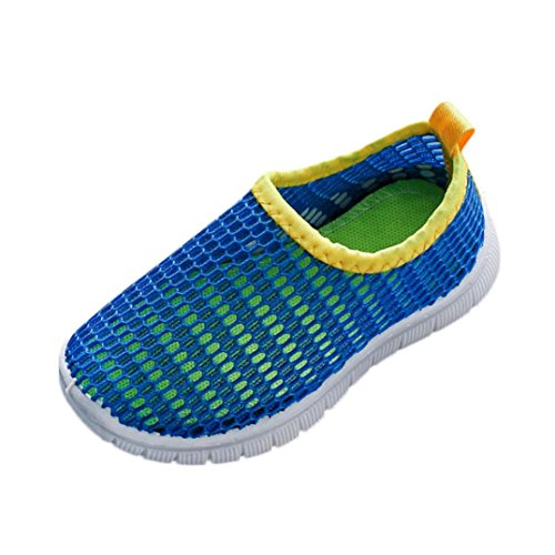 Somesun scarpe da ginnastica per bambini. bambini sportive scarpe traspiranti corsa sandali estivi bambino fondo morbido antiscivolo moda romane spiaggia (30, blue)