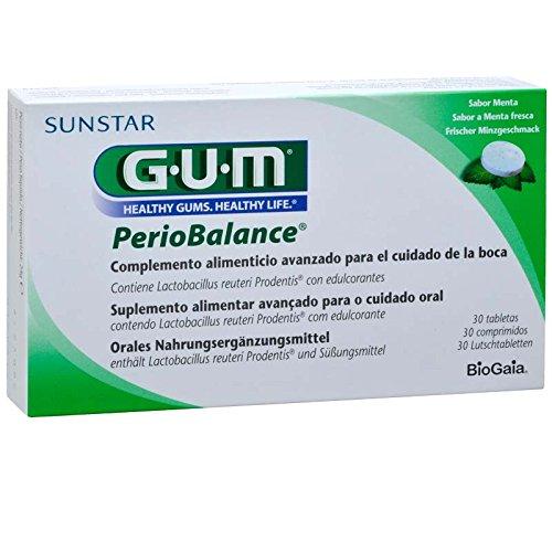 GUM PerioBalance contiene la combinación clínicamente probada y patentada de dos cepas complementarias de Lactobacillus reuteri que se producen naturalmente en la saliva. A través de su modo de acción probiótico, GUM PerioBalance restaura el equilibr...