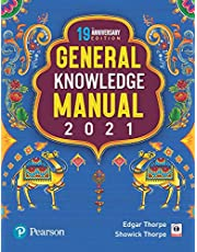 Pearson General Knowledge Manual 2021 | For UPSC, State Civil Services, Bank PO, SBI, SSC & other competetive exams