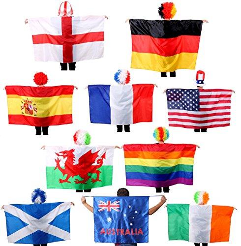 ILOVEFANCYDRESS Australian Cape Flagge-Australien Flagge tragbar Cape Fancy Dress Accessory, für Sportveranstaltungen & Australien Tag