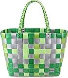 Einkaufstasche Geflochten mit Henkeln - Tragetasche Extra robust Farbe Classic/Forest