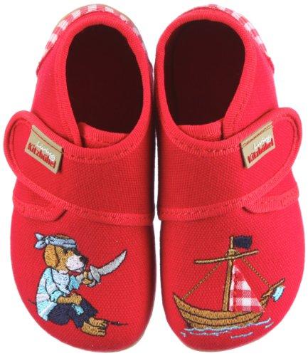 Living Kitzbühel Baby Klettschuh Piratenschiff 2106, Chaussures basses garçon TR-B2-Rouge-50