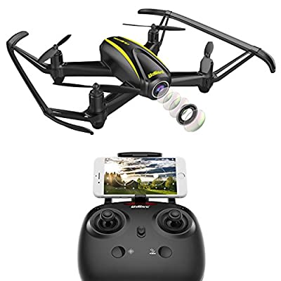 DROCON U31W Navigator Kids Drone with HD Camera (1280 x 720P) WIFI FPV Quadcopter with Altitude Hold Headless Mode for Beginner