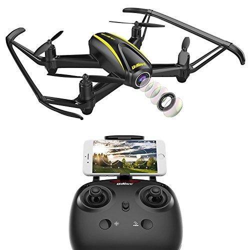 Wheelman / U31W Drone WLAN FPV Quadcopter Drohne mit 720p HD Kamera - 120° Weitwinkel, Modus zum Beibehalt der Höhe, Kopflosmodus, Dribble zum Starten / Landen / Notfallstop All Chick für Anfänger