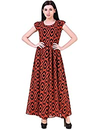 Mind The Gap Flat Georgette Long Dress For Every Day Wear