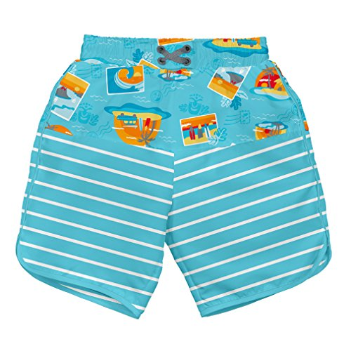 i play. 722154-637-44 Mix und Match Ultimative Schwimmwindel Board Shorts 12-18 Monate, Surf Sunset, aqua