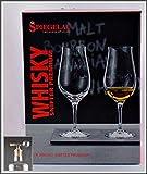2 Spiegelau Whisky Snifter Premium Special Glas Nosing Glas für edle Spirituosen im Original Geschenk Karton mit Flaschenportionierer