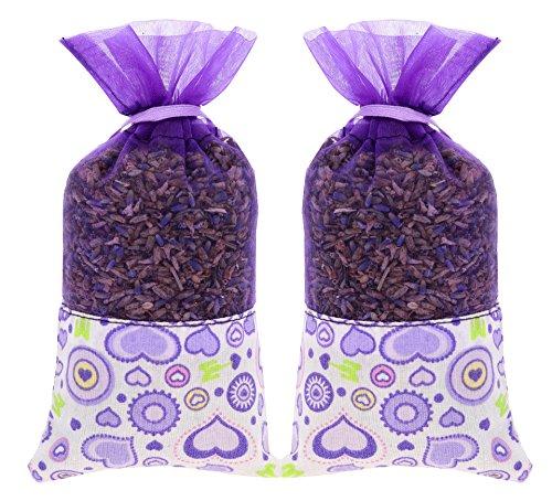 The Lavender Collection 2 Säckchen von 20 Gramm AC-046 Französischer Natürlicher Lavendel Motten Abwehr Päckchen Beutel für Schrank Kommode und Schublade - Geschenkset -