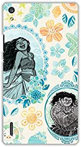 Crazy Beta Maona painting art Printed mobile back cover case for Huawei Ascend P7