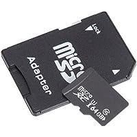 sseasonga Ultra 64GB Micro SDXC UHS-I tarjeta clase 10con adaptador de tarjetas de memoria de alta velocidad TF tarjeta