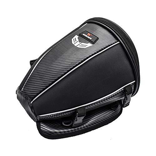 WOSAWE Moto Posteriore Sedile Borsa PU Pelle Impermeabile Bicicletta Multifunzionale Borsello Viaggio Zaini (15 Litri)
