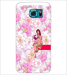 PrintDhaba Sweet Girl D-2962 Back Case Cover for SAMSUNG GALAXY S6 (Multi-Coloured)