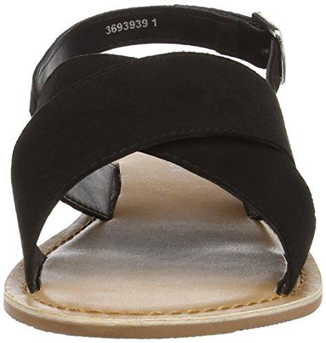 New Look Fold 1, Sandales Plateforme femme Noir (Black)