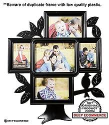 Family Tree 5 in 1 Photo Frame Black