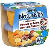 Nestlé naturnés sélection pommes de terre boeuf tomate 2x200gdès 6 mois - ( Prix Unitaire ) - Envoi Rapide Et...