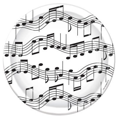 Musical Note 7ft Plates - Note Musicali Centrotavola