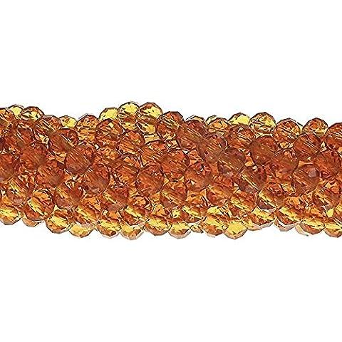 6x 8mm Rondelle Sfaccettato Cristallo Perline di Vetro, (Perline Di Cristallo Di Sfaccettatura)