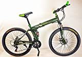 UAT- MTB Fahrrad Klappbar 26 Zoll Shimano TZ 21-Gange Scheibenbremse Voll Suspension