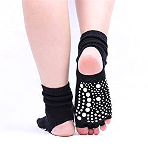 Maybesky Yoga Socken Finger Rutschfeste Gummisocken Open-Toe Cotton Socken Pilates, Anti-Rutsch-Slip-Socken