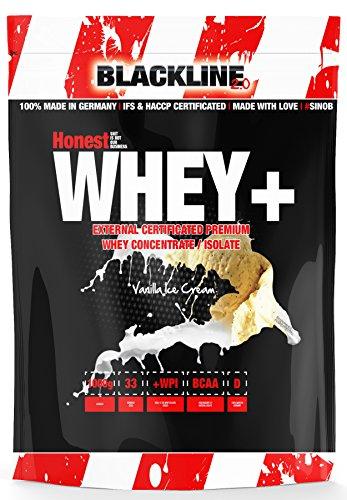 Cream-protein-pulver Ice Vanilla (Blackline 2.0 Honest Whey+ 12,5 % Garantierter Isolatanteil. Premium Molkenprotein Mit Natürlichem BCAA Anteil. Instant Whey (Extrem Gut Löslich) Als Proteinshake Für Den Muskelaufbau Beim Fitness, Kraftsport, Bodybuilding. 1 x 1000g (Vanilla Ice Cream - Vanilleeis))