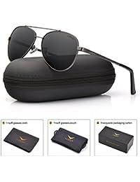 LUENX Damen Aviator Polarisierte Sonnenbrille mit Etui