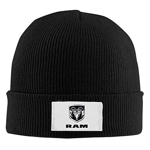 yhsuknntbj-woolen-hat-knit-ted-caps-dodge-ram-logo-black