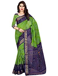Widespread Collection Women's Silk Saree With Blouse Piece (Wide153_Green & Blue)