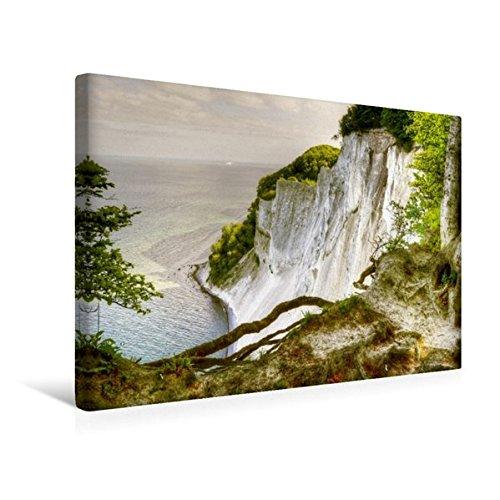 Calvendo Premium Textil-Leinwand 45 cm x 30 cm quer, Dronningestolen Klippen | Wandbild, Bild auf Keilrahmen, Fertigbild auf echter Leinwand, Leinwanddruck Natur Natur