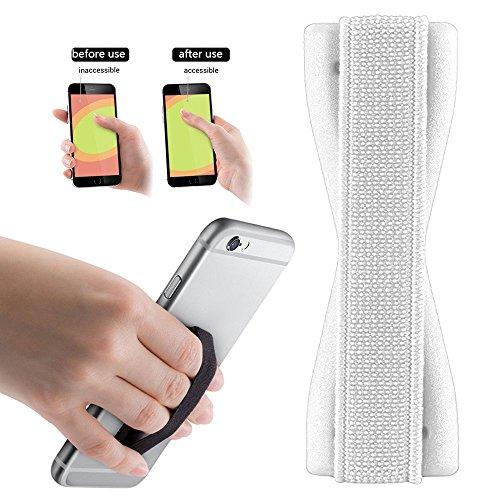Tabletten Tmobile (2Ticks Samsung Galaxy J7 Prime T-Mobile Anti-Rutsch-elastische Tablette Handy Finger Griff Ring Halter Selfie Strap - White)
