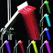 BLOOMWIN Cabeza de ducha Ducha a Mano Mango de ducha LED Luz LED 7 Colores Alcachofa Manual