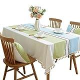 Tischdecken Tischdecke quadratische Tischdecke Baumwolle und Leinen gestreiften Couchtisch Matte frische Fransentischdecke Tischdecke Tischdecke Studie Tischdecke Baumwolle Leinen Tischdecke