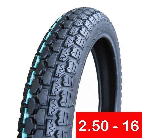 Reifen 2,50-16vorne oder hinten Motorrad Dual Sport auf/Off Road, etwas Knobby (P43)