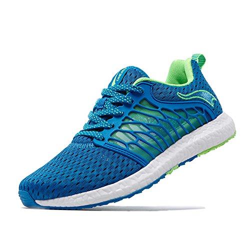 Onemix Maglia Scarpe da Ginnastica Basse Sportive Outdoor Tennis Running Sneakers Donna Uomo Unisex Adulto Blu reale