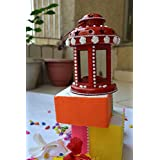 Sparkle CnC's Diwali Exclusive Decorative Lantern Diya.A Very Cute And Colorful For Your Sweet Home.Reusable,Sturdy Long Lasting Shine. Royal Red. Size 6X4 Inches.