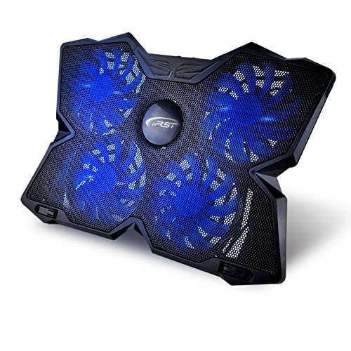 Cooling Pad 17 Zoll Gaming Laptop Kühler Notebook Ständer Kühlpadmit USB Port und 4 LED Lüftern Kühlpad Kühlmatte für Macbook Game Laptop Notebook Einstellbar