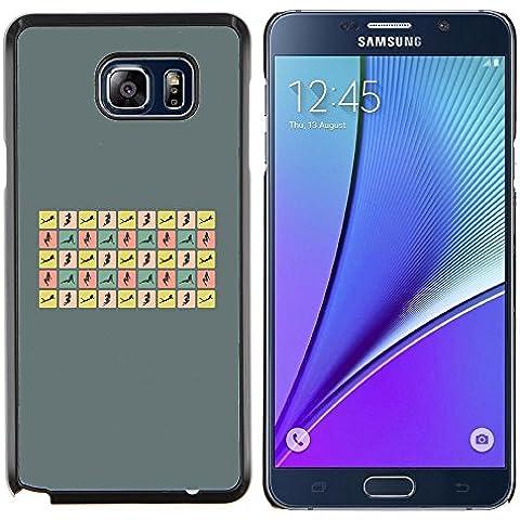 Copertura di plastica Shell Custodia protettiva || Samsung Galaxy Note 5 || Donna sexy pone Curvy Corpo Hour Glass @XPTECH