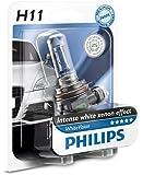 Die besten H11 Birnen - Philips WhiteVision Xenon-Effekt H11 Scheinwerferlampe 12362WHVB1, Einzelblister Bewertungen