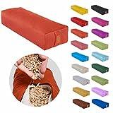 Eckiges Yoga Bolster »Paravati« mit Bio-Dinkelspelz (kbA) / Länge ca 67cm & Durchmesser ca 13cm - ideal als Yogakissen / Zafukissen / Meditationskissen / Meditiationsunterlage - hoher Sitz-Komfort dank Dinkelspelzfüllung / maschinenwaschbar & hautfreundlich. Ideale Hilfsmittel / Accessoire (Sitzkissen) für längere Meditationen. Material : 100% Baumwolle - artikblau