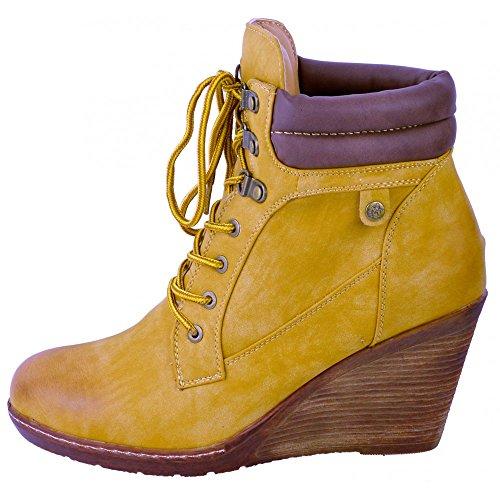 Kick Footwear Platforms, Wedges, Stivali donna Tan