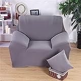 Lotusblume, Bezüge für Armlehnen Sessel-elastische Stuhlhusse aus Farbe Pure inkl. Sofa-für 1Platz grau
