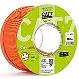 Mit Lizenznachweis 100m CAT.7 Verlegekabel 10Gbit Netzwerkkabel Installationskabel Network Datenkabel CAT7 LAN Kabel 1000Mhz S/FTP6 5 Kat.7 10/100/1'000/10'000 MBit Halogenfrei LSOH