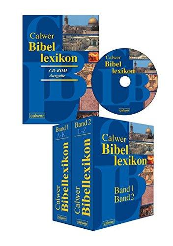 Kombi-Paket: Calwer Bibellexikon CD-ROM + Printausgabe: 2 Teile