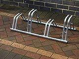 Bison Fahrradständer, 4Aufnahmevorrichtungen, 2verschiedene Höhen