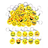JZK 50 x Emoji Portachiavi Emoticon Porta Chiavi Idea bomboniera pensierino omaggi regalino Gadget Dopo Festa Compleanno Bambini Adulti