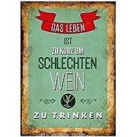 WANDTAFEL Holzschild BORDEAUX Wein Geschenk Dekoration Spruch Shabby Vintage