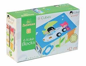 Au Sycomore - KOK421 - Koke Blocks Coffrets 6 Cubes