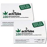 actiTube - Filtro de carbón activo, 2 x 100 unidades