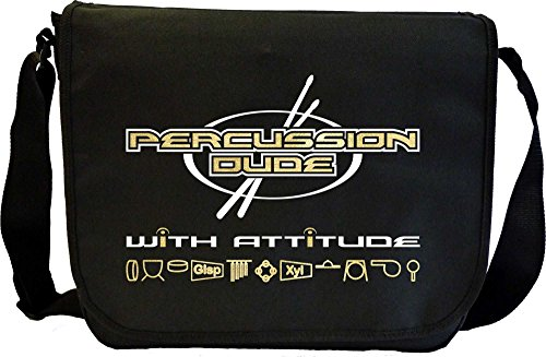 Percussion-Dude-Attitude-Sheet-Music-Document-Bag-Musik-Notentasche-MusicaliTee