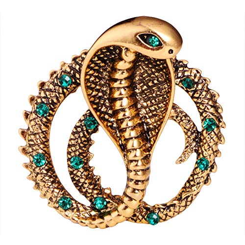 HYLIWI Brosche Personality Retro British Metal Pins Cobra Snake Brooch Jewelry Luxury Lapel Pin Badge Brooches for Men Accessories