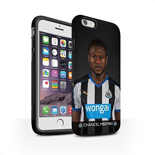 Officiel Newcastle United FC Coque / Matte Robuste Antichoc Etui pour Apple iPhone 6 / Pack 25pcs Design / NUFC Joueur Football 15/16 Collection Mbemba